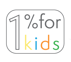 every purchase goes to one percent for kids